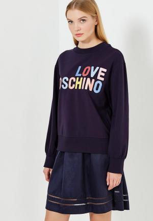 Свитшот Love Moschino. Цвет: синий