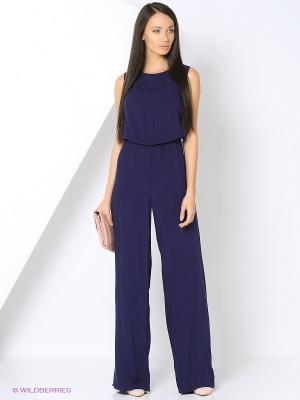 Комбинезон Milana Style. Цвет: темно-синий