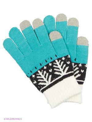 Перчатки для сенсорных экранов TERRITORY. Цвет: бирюзовый, темно-синий