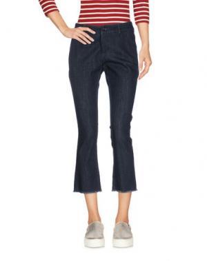 Джинсовые брюки-капри LA ROSE. Цвет: синий