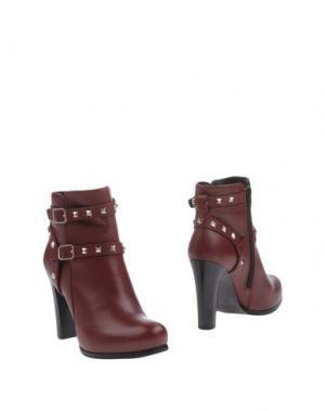 Полусапоги и высокие ботинки EMANUELA PASSERI. Цвет: красно-коричневый