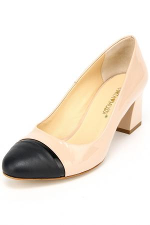Туфли Corta Mussi. Цвет: бежевый, черный