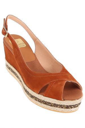Туфли летние Kanna. Цвет: brown