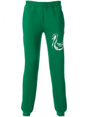 Спортивные брюки с принтом Cottweiler. Цвет: зелёный