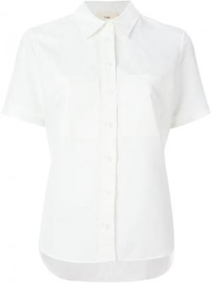 Рубашка с короткими рукавами Folk. Цвет: белый