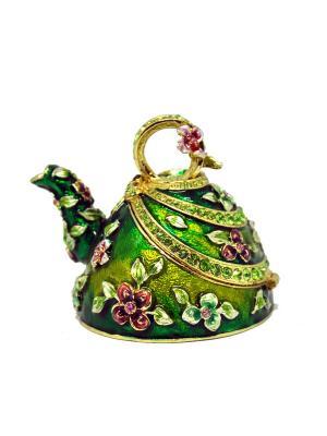 Шкатулка Чайник Yen Ten. Цвет: зеленый
