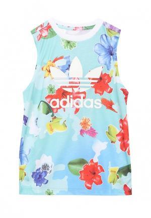 Майка adidas Originals. Цвет: бирюзовый