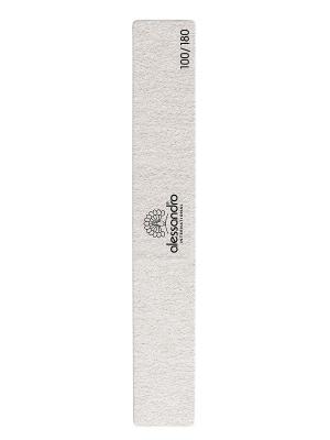Полировочный баф  для маникюра (зернистость 100/180) alessandro. Цвет: светло-серый
