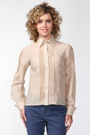 Блуза Re Vera. Цвет: бежевый