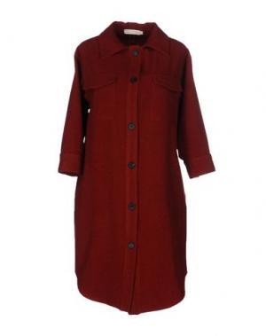 Пальто TROU AUX BICHES. Цвет: кирпично-красный