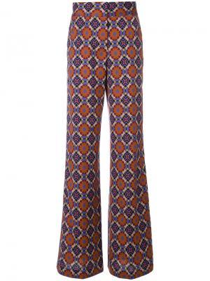 Расклешенные брюки с принтом Etro. Цвет: многоцветный