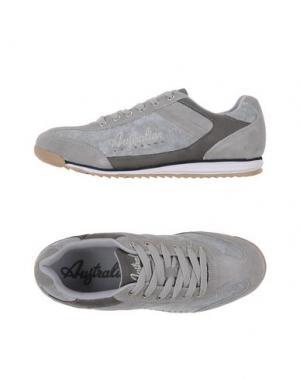 Низкие кеды и кроссовки AUSTRALIAN. Цвет: серый