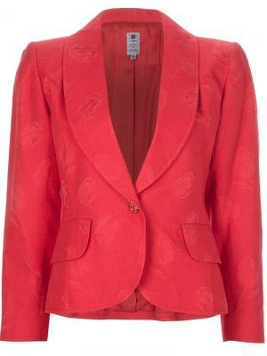 Жаккардовый пиджак с цветочным узором Emanuel Ungaro Vintage. Цвет: жёлтый и оранжевый