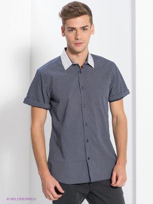 Рубашка New Look. Цвет: темно-синий, белый
