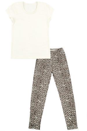 Комплект: брюки, джемпер Апрель. Цвет: малиновый, белый