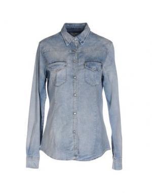 Джинсовая рубашка VICOLO. Цвет: синий