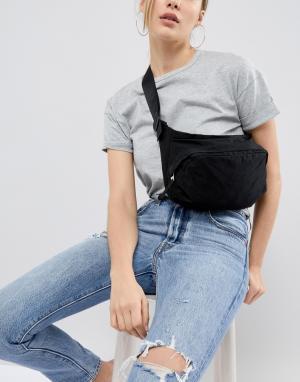 Weekday Сумка-кошелек на пояс в стиле oversize от. Цвет: черный