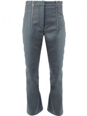 Расклешенные укороченные брюки Rokh. Цвет: серый