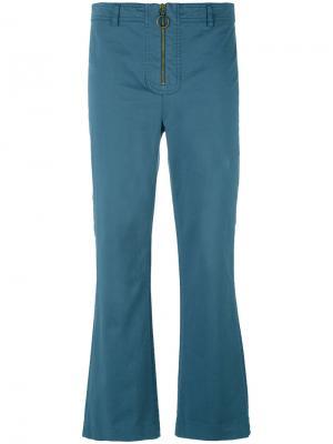 Укороченные расклешенные брюки Philosophy Di Lorenzo Serafini. Цвет: синий