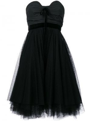 Платье из тюля без бретелек Philosophy Di Lorenzo Serafini. Цвет: чёрный