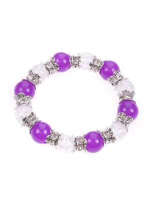 Браслет Pretty Mania. Цвет: фиолетовый, белый, серебристый