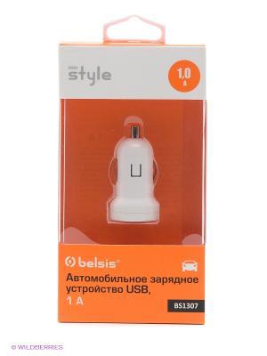 Автомобильное зарядное устройство 1 USB  A ,белый Belsis. Цвет: белый