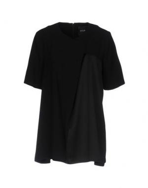 Блузка TY-LR. Цвет: черный