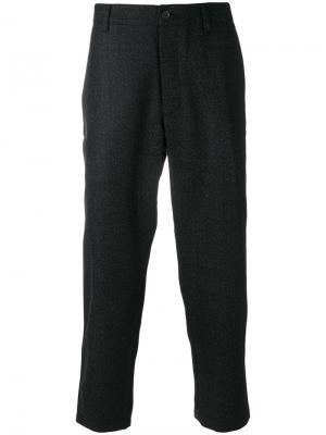 Укороченные классические брюки YMC. Цвет: чёрный