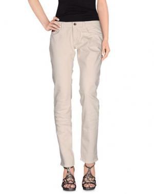 Джинсовые брюки UNLIMITED. Цвет: бежевый