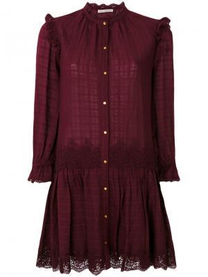 Кружевное платье Nessa Ulla Johnson. Цвет: красный