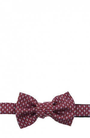 Галстук-бабочка Saint Laurent. Цвет: бордовый