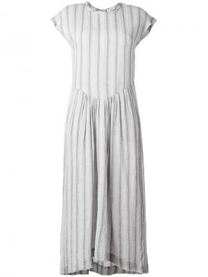 Расклешенное платье в полоску Masscob. Цвет: синий