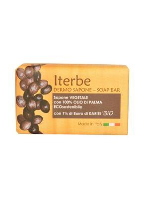 Натуральное косметическое мыло с органическим маслом ши, 100 гр. Iteritalia. Цвет: белый