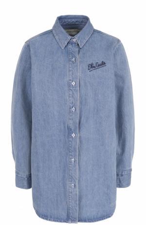 Удлиненная джинсовая блуза свободного кроя Etre Cecile. Цвет: голубой