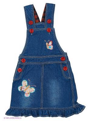 Сарафан джинсовый Kidly. Цвет: синий, оранжевый