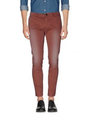 Повседневные брюки REIGN. Цвет: кирпично-красный