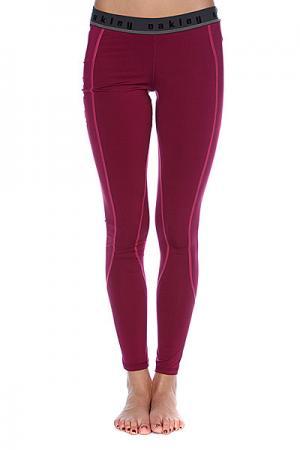 Термобелье женское (низ)  Moving Baselayer Pants Magenta Purple Oakley. Цвет: черный