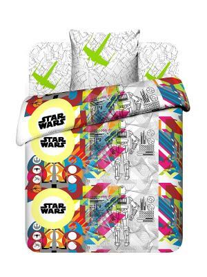 Комплект постельного белья Звездные войны Василек. Цвет: белый, желтый