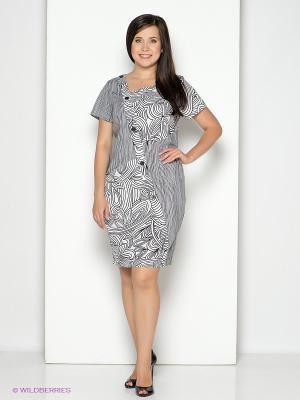 Платье D`imma. Цвет: черный, белый