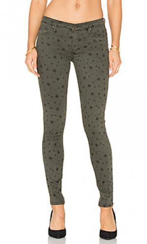 Супер узкие джинсы средняя посадка jude Black Orchid. Цвет: зеленый