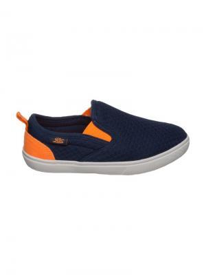 Слипоны Lico. Цвет: темно-синий, оранжевый