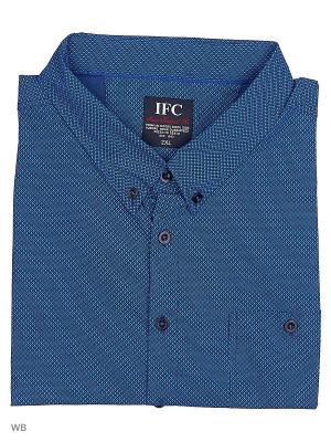 Рубашка IFC. Цвет: синий, лазурный