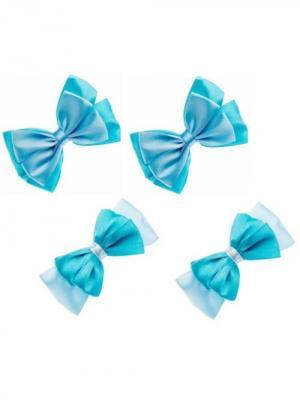 Набор аксессуаров для волос City Flash. Цвет: голубой, белый, бирюзовый