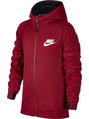 Толстовка B NSW HOODIE FZ AV15 Nike. Цвет: красный, черный