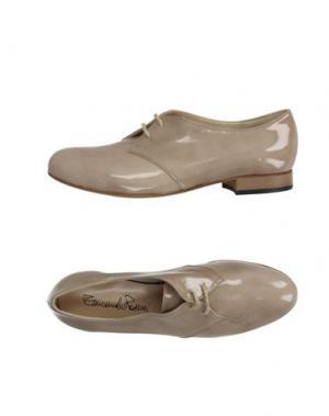 Обувь на шнурках EMANUELA PASSERI. Цвет: бежевый