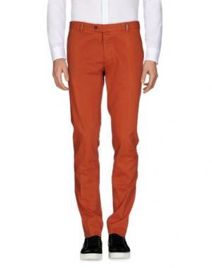 Повседневные брюки GIO ZUBON. Цвет: ржаво-коричневый