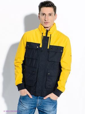 Куртка Tommy Hilfiger. Цвет: желтый, темно-синий