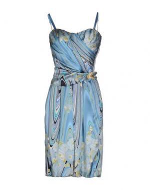Платье до колена X'S MILANO. Цвет: небесно-голубой