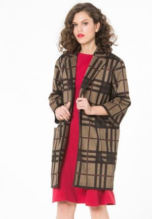 Пальто YuliaSway Yulia'Sway. Цвет: коричневый