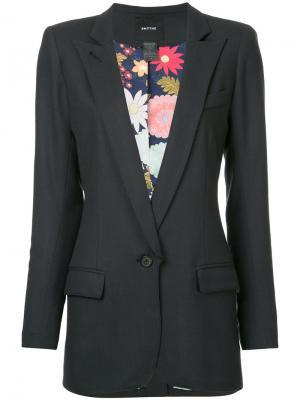 Пиджак с заостренными лацканами Smythe. Цвет: чёрный